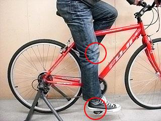 自転車の 自転車 高さ サドル : 自転車メンテナンス>サドル ...