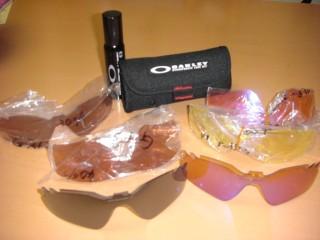 OAKLEY 交換用のレンズと洗浄液と撥水set