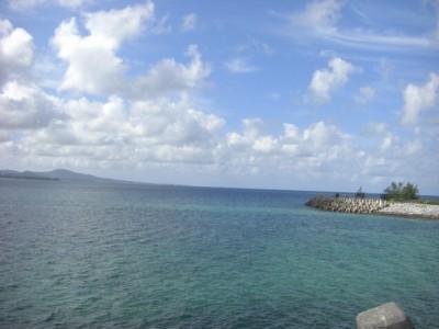 会場のすぐ裏の海。本当にきれいな海でした。