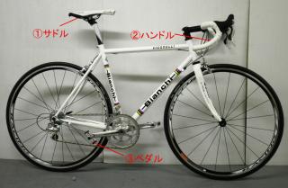 自転車各部の名称