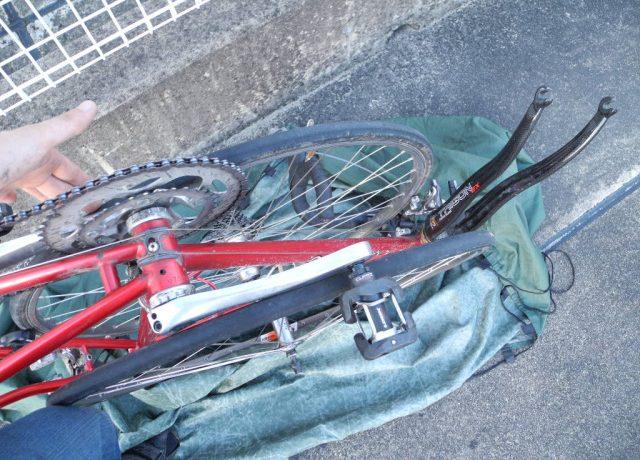 輪行で自転車を電車に乗せる方法