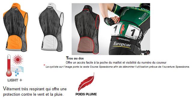 Speedzone X-Lite Bike Vest 1028089-278-S Louis Garneau